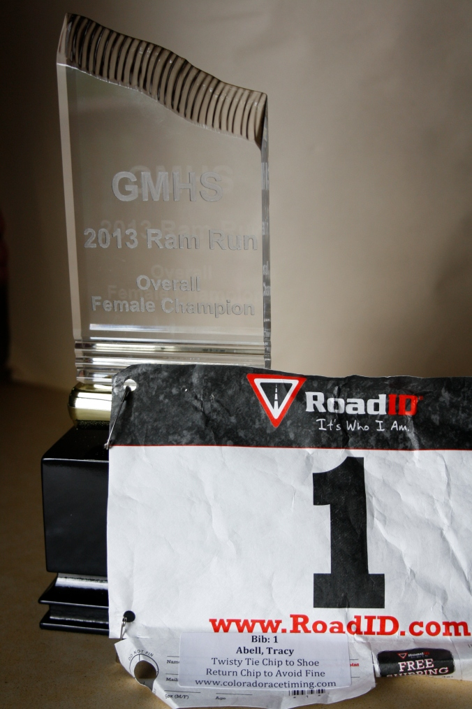 Tracy's Ram Run trophy 002