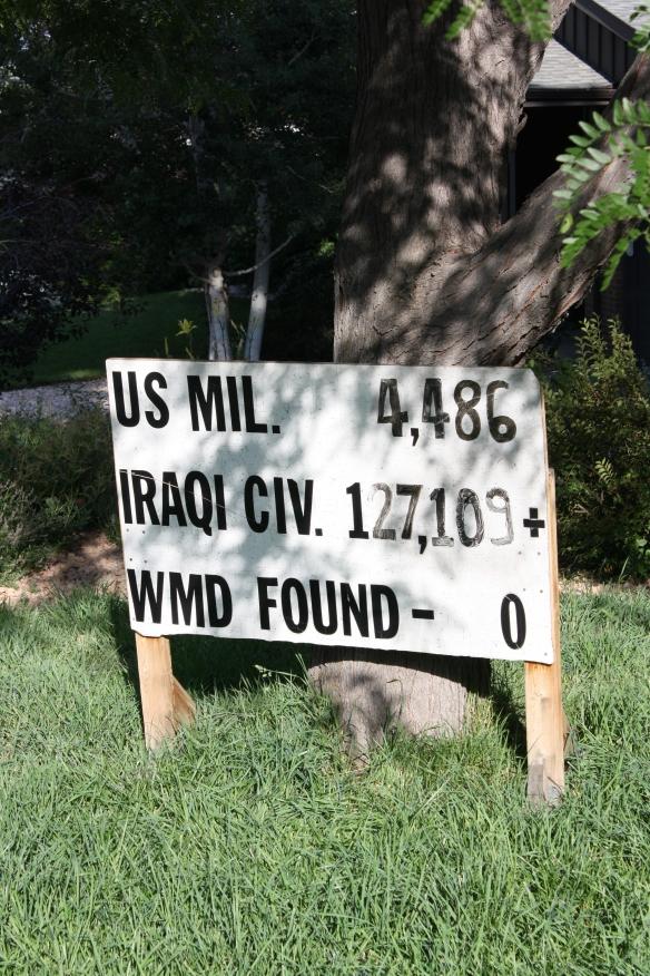 Iraq death toll sign 002