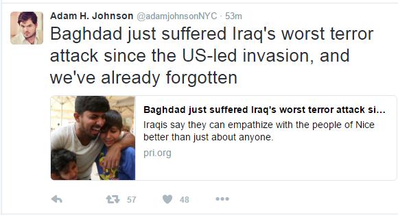 adam johnson iraq tweet