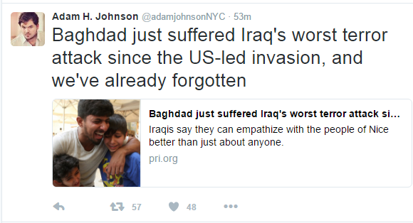 adam johnson iraq tweet
