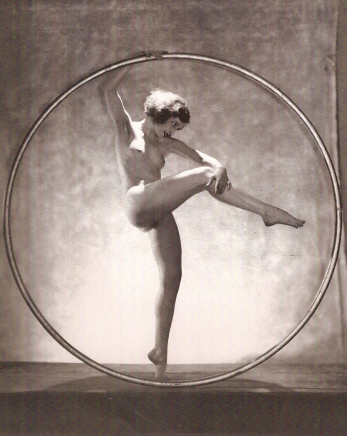 Doris Humphrey in her hoop many years ago.